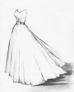 rochie in creion